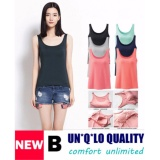 Discount Bra Top Padded Camisole Tank Top B Navy Color