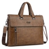 Coupon Brand Design Jeep Mens Handbag Business Bags Single Shoulder Bagmale Briefcase Leather Portable Tote Messenger Bag Brown Intl