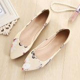 Buy Jetcorn Women Genuine Leather Soft Sole Driving Office Simply Style Scoop Pointed Single Shoes Yellow Size 34 43 Oem Original