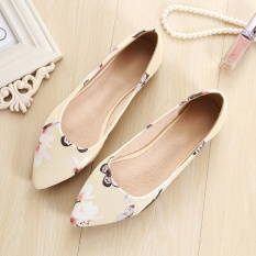 Sale Jetcorn Women Genuine Leather Soft Sole Driving Office Simply Style Scoop Pointed Single Shoes Yellow Size 34 43 Oem On China