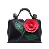 How To Get Brand Large Flowers Shoulder Bag Chinese National Wind Handbag Tote Bag Black Intl