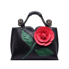 Brand Large Flowers Shoulder Bag Chinese National Wind Handbag Tote Bag Black Intl For Sale Online