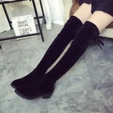 Brand New Women S Over Knee Slim High Boot Lace Up Flats Long Thigh Boots Shoes Promo Code