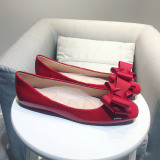 Buy Red Flat Bridesmaid Wedding Shoes Boat Shoes Oem