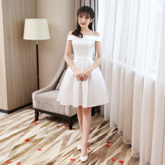 Where Can You Buy Nanfei Women S Short Satin Evening Dress White A Paragraph White A Paragraph White