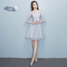 Review Sisters Korean Style Female New Style Short Evening Dress Bridesmaid Dress Gray Short Paragraph B Section 968 Oem On China