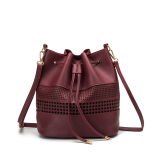 Sale Korean Style Hand Small And Large Women S Bag Bucket Bag Wine Red Color Oem