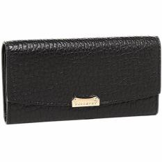 Burberry Women s LS Porter Embossed Long Leather Wallet (Black with  Gold-tone Hardware) fa5c9ac0f2