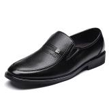 Discount Men S No Shoelace Waterproof Soft Leather Shoes Black 7026 Black 7026 Black