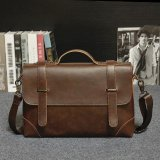Business Tote Single Shoulder Large Capacity Leather Bag For Men Coffee Intl Price