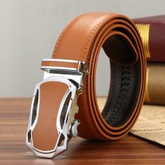 Business Yellow Leather Waistband Men S Fashion Automatic Dedu Belt Cow Split Leather Leisure Belt Intl Discount Code