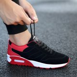 Cheapest Men S Popular Velvety Sneakers Black Red Black Red