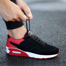How Do I Get Men S Popular Velvety Sneakers Black Red Black Red