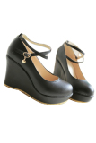 Review C2 Women S Shoes High Heels Wedge Strap Candy Color Black Intl China