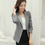 Recent Calan Diana Women S Korean Style Slim Fit Suit Gray R133 Gray R133