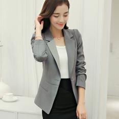 Calan Diana Women S Korean Style Slim Fit Suit Gray R133 Gray R133 Best Buy