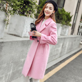 How To Get Calan Diana Women S Midi Woolen Coat Pink Pink