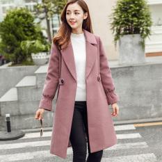 Retail Calan Diana Women S Midi Woolen Coat Red Bean Paste Hong Red Bean Paste Hong