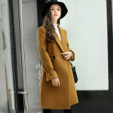 Calan Diana Women S Korean Style Slim Fit Woolen Coat Golden Camel Golden Camel Shopping