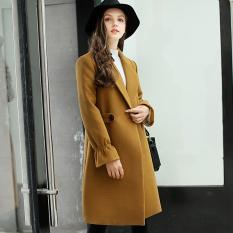 Low Cost Calan Diana Women S Korean Style Slim Fit Woolen Coat Golden Camel Golden Camel