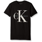 Sale Calvin Klein Big Boys Original Ck Logo Crew Neck Short Sleeve Black Intl Calvin Klein