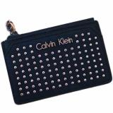 Buy Calvin Klein Ck Women S Studded Coin And Key Holder Pouch Case Black Rose Gold Calvin Klein Online