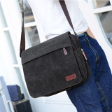 Can Burley 2017 New Style Man Bag Canvas Shoulder Bag Messenger Bag Men S Bag Business Casual Canvas Briefcase Black Cheap