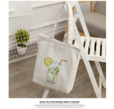 Buy Literary And Artistic Female One Shoulder Hand Student Backpack Canvas Bag Lemon Cup Lemon Cup Cheap On China