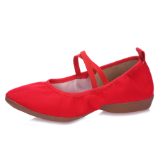 Price Canvas Female Mom Dance Shoes Square Dancing Shoes Red Full Canvas Oem China