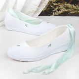 Where To Buy Chinese Style Autumn Women S Shoes Canvas Shoes Bamboo Light Green Strap