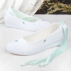 Discount Chinese Style Autumn Women S Shoes Canvas Shoes Bamboo Light Green Strap Oem China