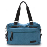 Who Sells The Cheapest Canvas Travel Sch**L Casual Messenger Bag Bookbag Blue Intl Online