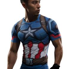 Best Deal Captain America Civil War Tee 3D Printed T Shirts Men Iron Man Cosplay Costumes Fitness Compression Clothing Male Crossfit Tops Intl