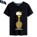 Sale Men And Women Card Charge Ostrich Zebra 15 Short Sleeved Bottoming Shirt T Shirt Black 3 Black 3 Oem Wholesaler