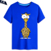 Men And Women Card Charge Ostrich Zebra 15 Short Sleeved Bottoming Shirt T Shirt Blue 3 Blue 3 Oem Cheap On China