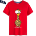 Sale Men And Women Card Charge Ostrich Zebra 15 Short Sleeved Bottoming Shirt T Shirt Red 3 Red 3 China