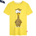 Buy Men And Women Card Charge Ostrich Zebra 15 Short Sleeved Bottoming Shirt T Shirt Yellow 2 Yellow 2 Online China