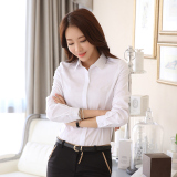 Star Magnolia Korean Style Cotton Black Slim Fit Top Black Shirt Oem Cheap On China