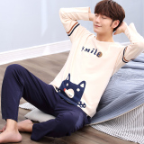 Get The Best Price For Cartoon Spring And Autumn Long Sleeved Cotton Teenager Home Clothes Men S Pajamas 129 Hong Nose Bear
