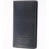 Brand New Caruster Mens Long Wallet High Quality Men S Soft Leather Bifold Wallet(Black) Intl