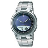 Casio Men S Standard Analog Digital Silver Stainless Steel Band Watch Aw80D 2A Aw 80D 2A Compare Prices