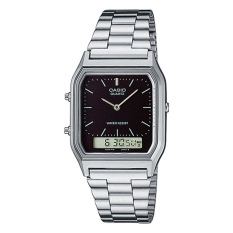 Top Rated Casio Vintage Series Standard Analog Digital Silver Stainless Steel Band Watch Aq230A 1D Aq 230A 1D