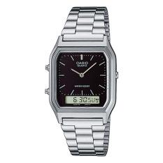Casio Vintage Series Standard Analog Digital Silver Stainless Steel Band Watch Aq230A 1D Aq 230A 1D Cheap