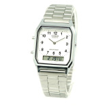 Sale Casio Vintage Series Standard Analog Digital Silver Stainless Steel Band Watch Aq230A 7B Aq 230A 7B Singapore Cheap
