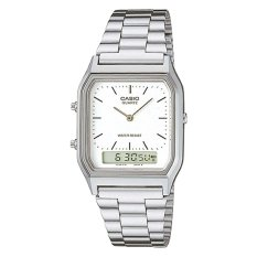 Retail Price Casio Vintage Series Standard Analog Digital Silver Stainless Steel Band Watch Aq230A 7D Aq 230A 7D