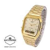 Casio Vintage Series Standard Analog Digital Gold Stainless Steel Band Watch Aq230Ga 9D Aq 230Ga 9D Reviews