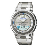 Casio Men S Outgear Series Silver Stainless Steel Band Watch Aw82D 7A Aw 82D 7A Casio Discount