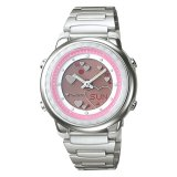 Casio Poptone Series Ladies Standard Analog Digital Silver Stainless Steel Band Watch Law25D 4A Law 25D 4A Casio Discount