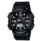 Casio Analog Digital Tough Solar Men S Black Resin Strap Watch Aqs810W 1A Free Shipping