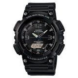 Best Rated Casio Analog Digital Tough Solar Men S Black Resin Strap Watch Aqs810W 1A2
